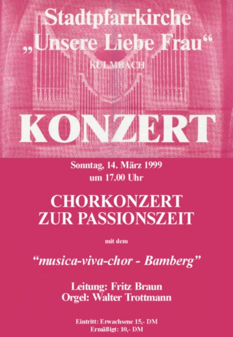 Passionskonzert in Kulmbach